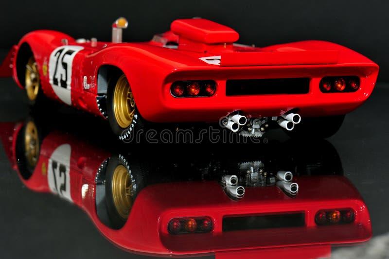 Ferrari 312P Spyder - hintere Ansicht stockbild