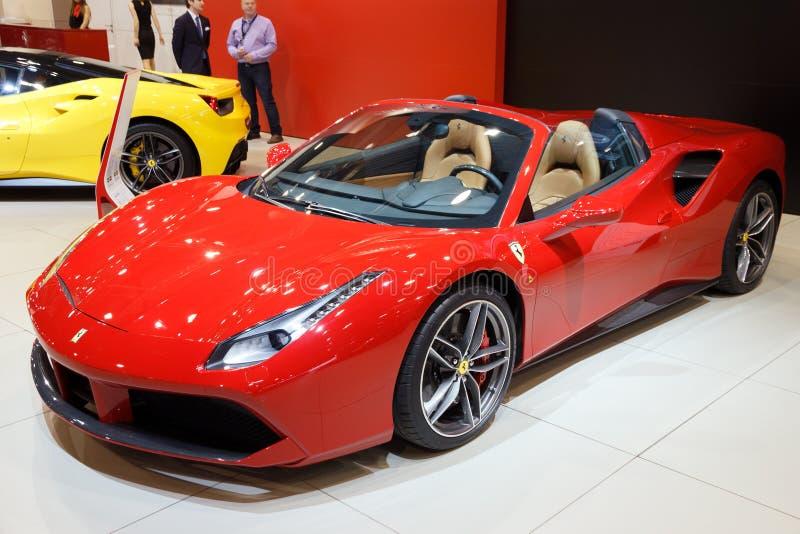 Ferrari 488 pająka sportów samochód zdjęcie royalty free