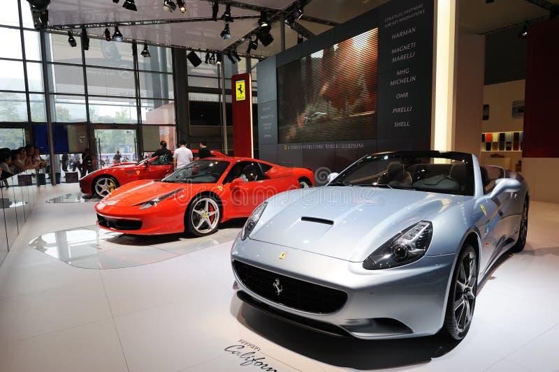 Ferrari pavilion royalty free stock photography
