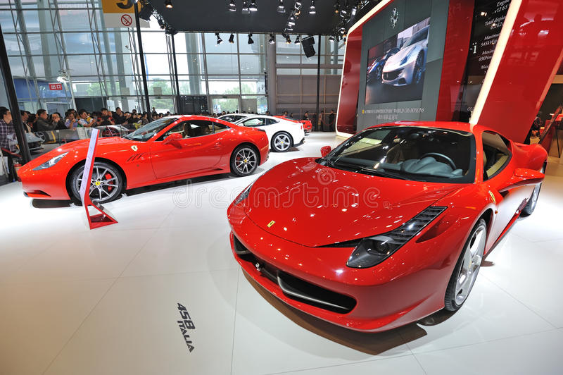 Ferrari pavilion royalty free stock images