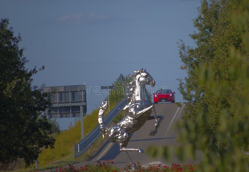 Ferrari pomnik obrazy royalty free