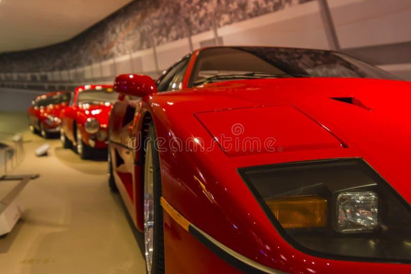 Ferrari-retrospective stock fotografie