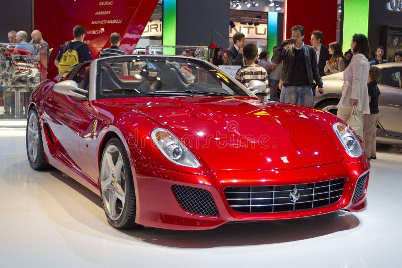 Ferrari SA APERTA en la demostración de motor de París 2010 fotografía de archivo libre de regalías