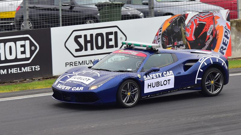 Ferrari 488 Safety Car at Ferrari Challenge Asia Pacific Series race on April 15, 2018 in Hampton Downs royalty free stock image