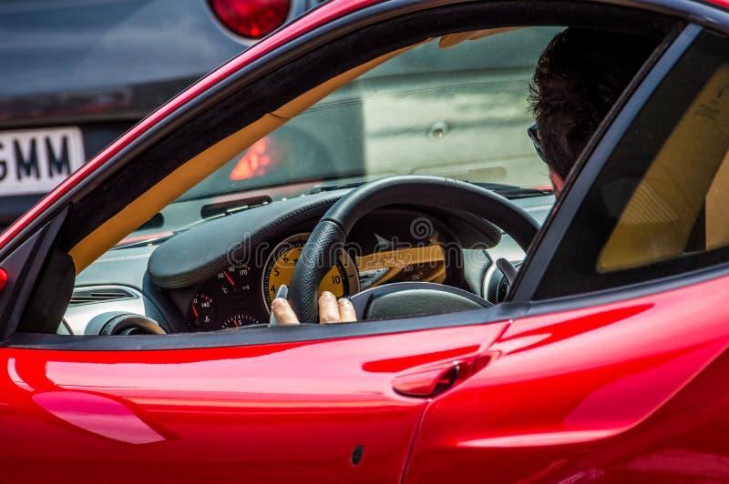 Ferrari 430 Scuderia in Circuit de Barcelona, Catalonia, Spain.  royalty free stock photos
