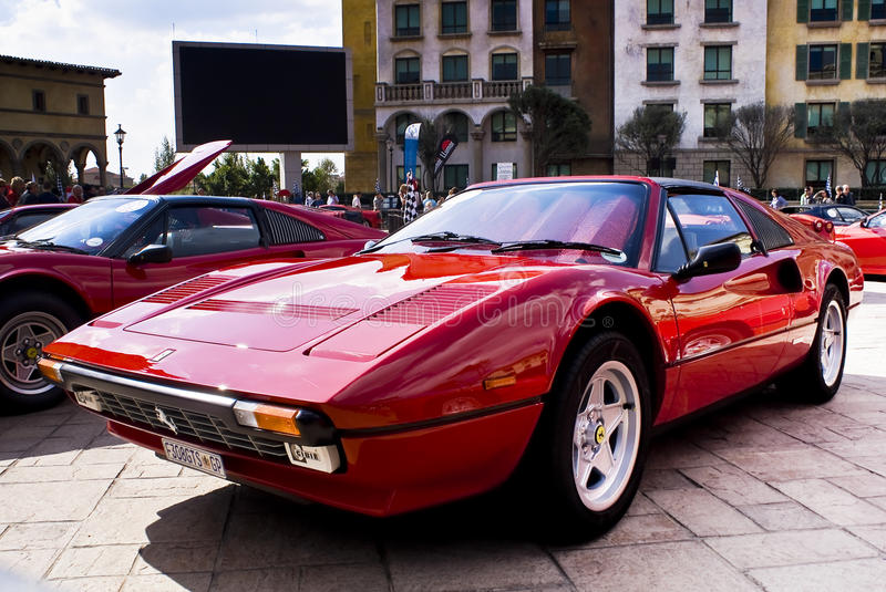 Ferrari Show Day - 328GTS. Montecasino and SEFAC (Southern Equatorial Ferrari Automobili Club) 3rd annual Show Day. Two-seater targa-top. While largely based on royalty free stock images