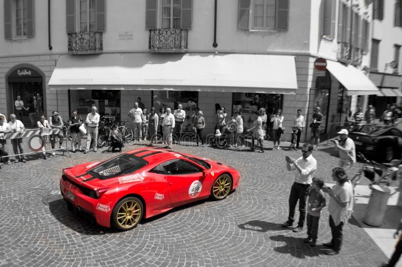 Ferrari 458 Speciale at Mille Miglia 2015 stock photos