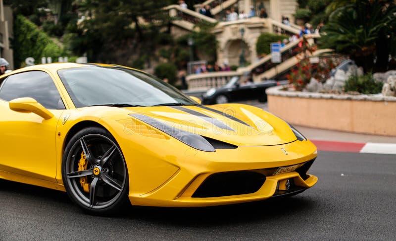 Ferrari 458 Speciale podczas Odgórnych Marques Monaco obrazy royalty free