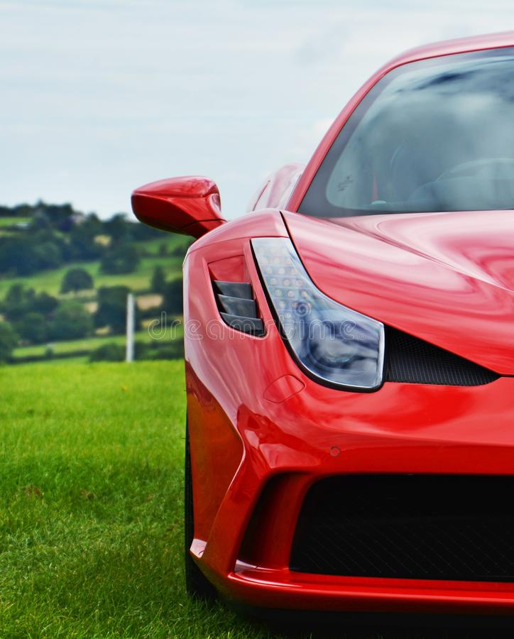 Ferrari 458 Speciale Supercar On The Race Track stock image