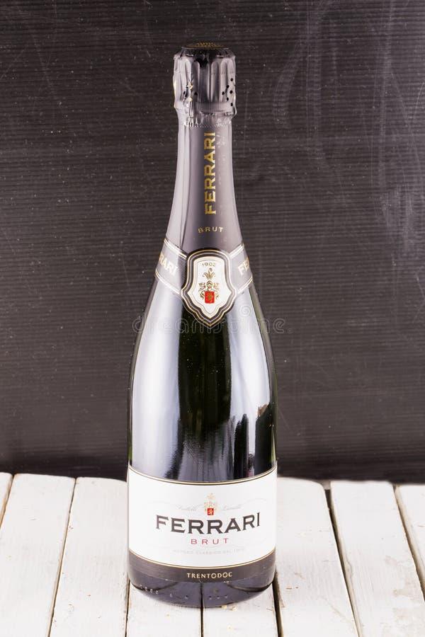 Ferrari spumante in a bottle stock photos