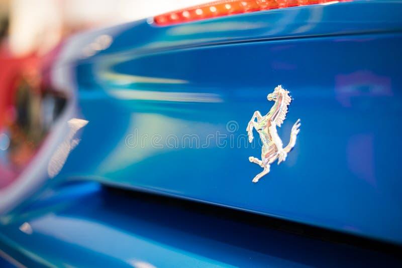 Ferrari Stallion Logo Blue royalty free stock photo