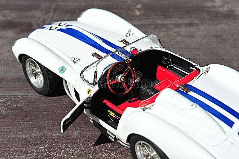 Ferrari-Testa Rossa-Ponton-Fender - Innenansicht stockfotografie