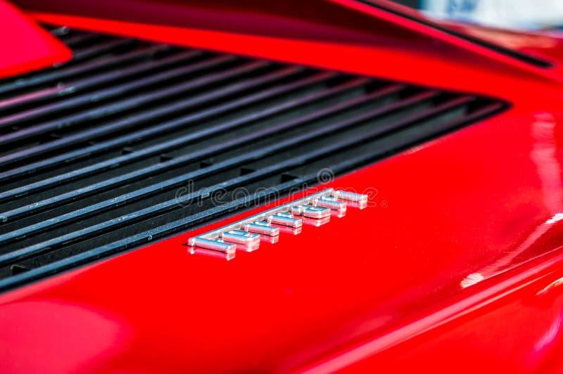 Ferrari Testarossa in Circuit de Barcelona, Catalonia, Spain. Ferrari Testarossa in Circuit de Barcelona stock photo