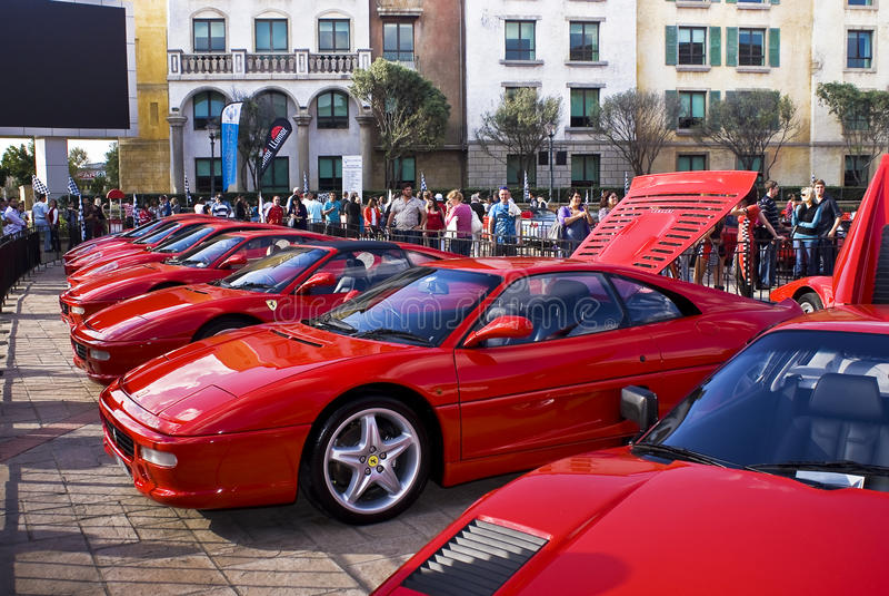 Ferrari toont Dag - 355 F1 Berlinetta stock fotografie