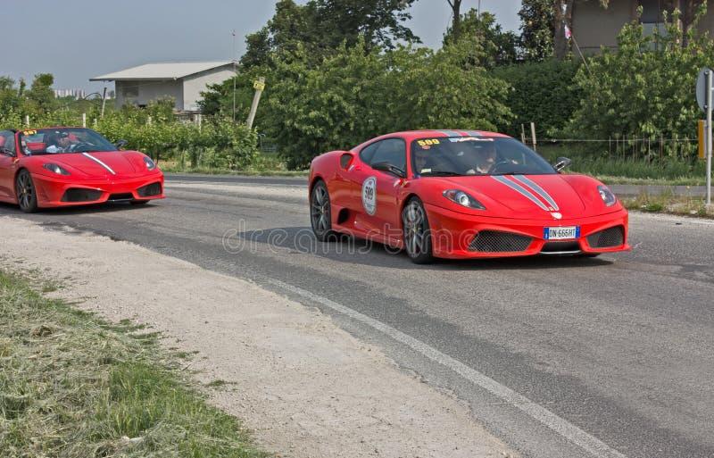 Ferrari Tribute to Mille Miglia royalty free stock photo