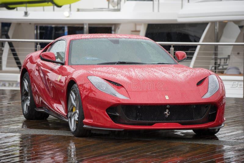 Ferrari 2018 812 ultrarapido fotografia stock
