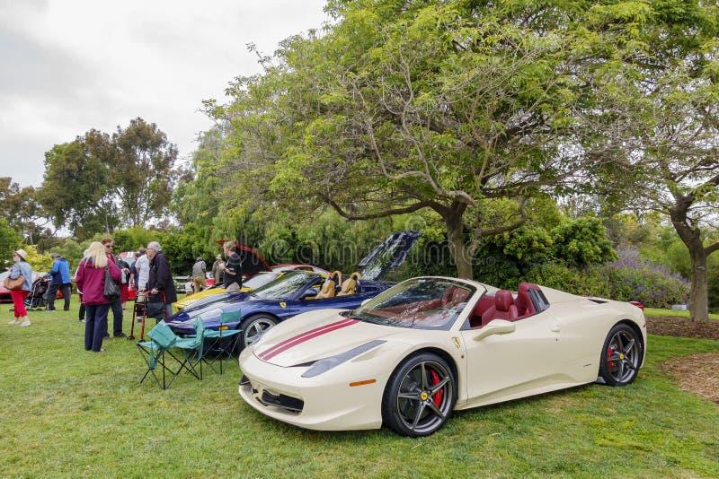Ferrari wachluje samochodowego przedstawienie fotografia stock