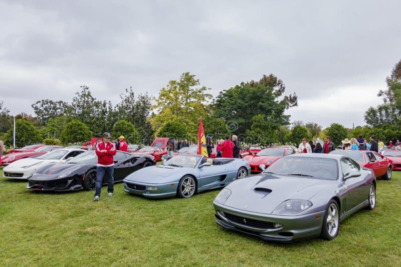 Ferrari wachluje samochodowego przedstawienie fotografia royalty free