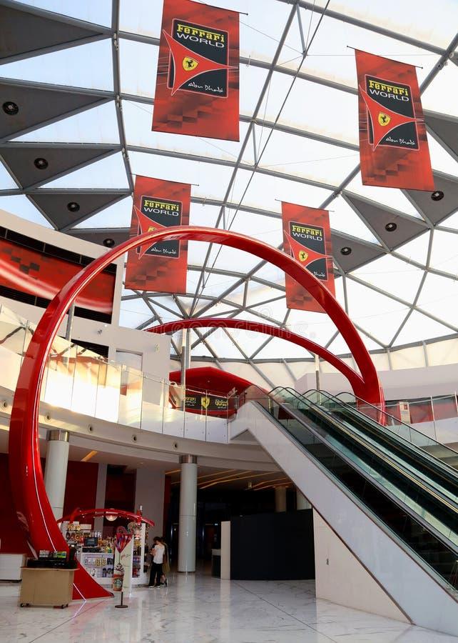 Ferrari-wereldingang stock foto