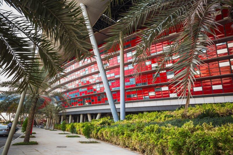 Ferrari-Wereldpark in Abu Dhabi royalty-vrije stock afbeelding