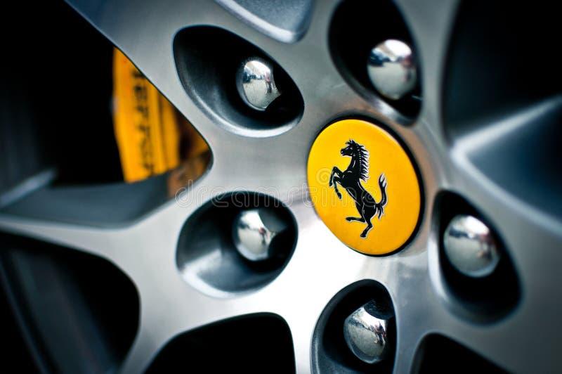 Ferrari wheel royalty free stock photo