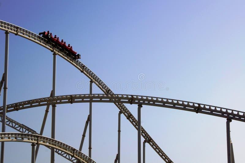 Ferrari World roller coaster royalty free stock images