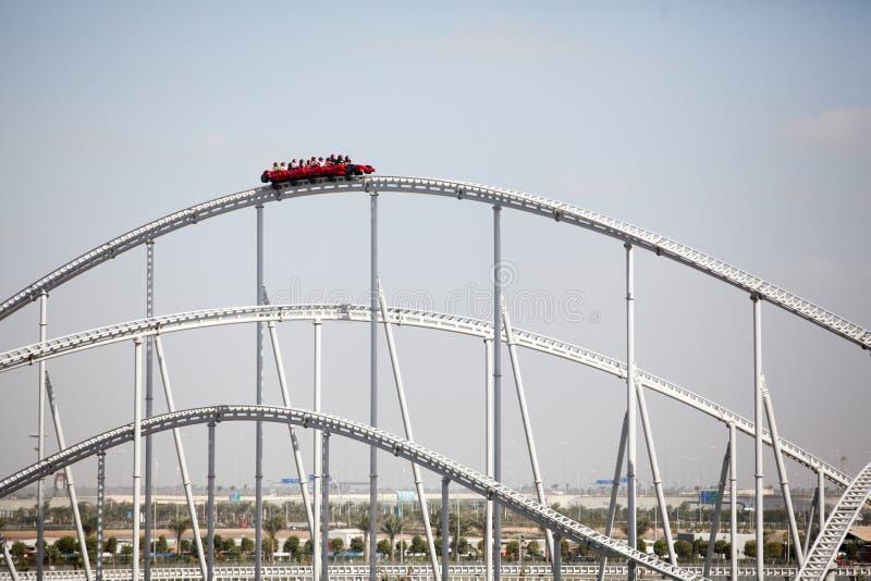 Ferrari world roller coaster stock images