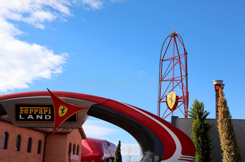 Ferrari world spain editorial image  Image of barcelona