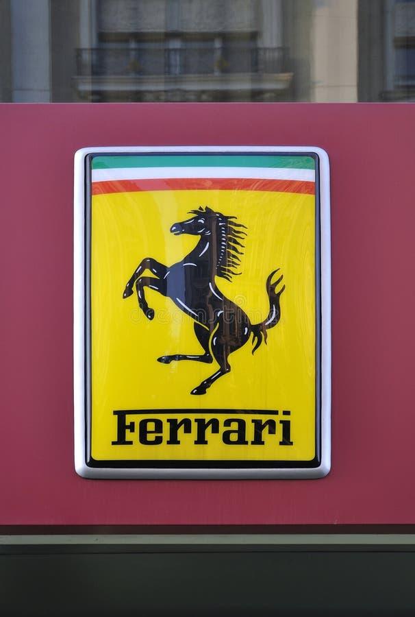 Ferrari-Zeichen stockbild