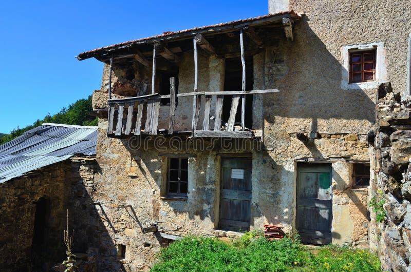 Ferrazza-Geisterstadt verlassen stockfoto