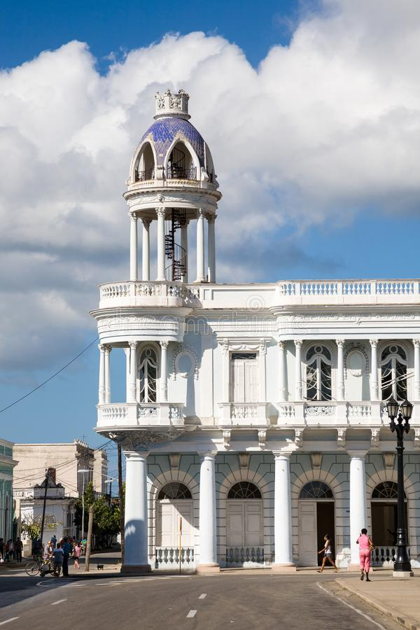 Ferrer pałac, Cienfuegos, Kuba obraz stock