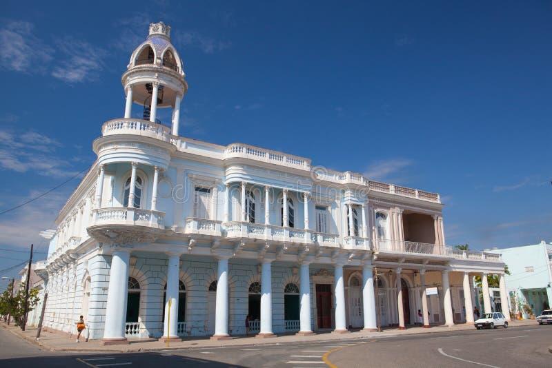 Ferrer pałac w Jose Marti parku Cienfuegos, Kuba obrazy stock