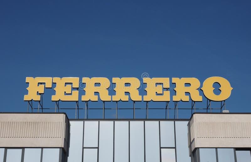 Ferrero-Hauptsitze in alba stockbild
