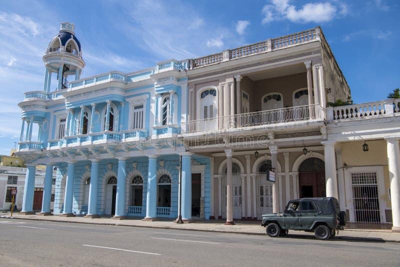 Ferrerpaleis, Palacio Ferrer, Cienfuegos, Cuba stock foto's