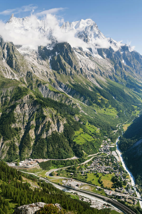 Download Ferret valley, Courmayeur stock image. Image of scenic - 17754729