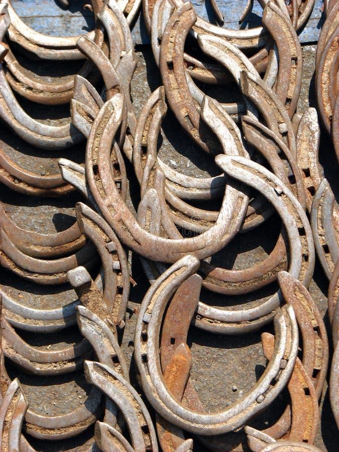Ferri di cavallo fotografie stock