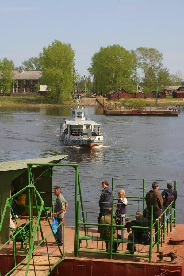 Ferriage norte do russo fotografia de stock