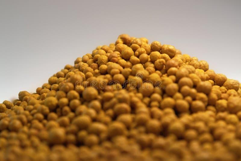 Ferric chloride balls in light back royalty free stock photos