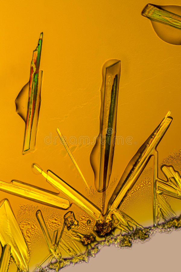 Ferric chloride crystals stock photography
