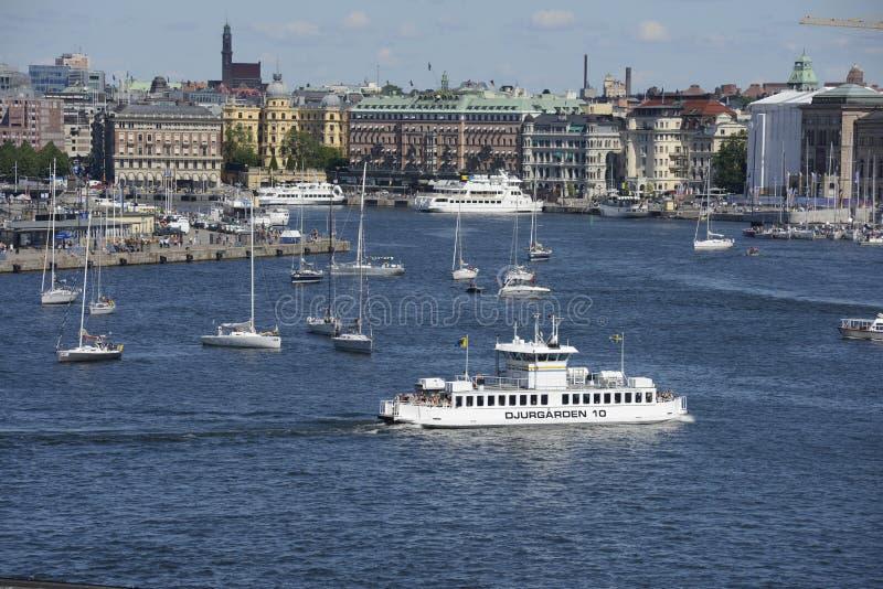 Ferrie在斯德哥尔摩 免版税图库摄影
