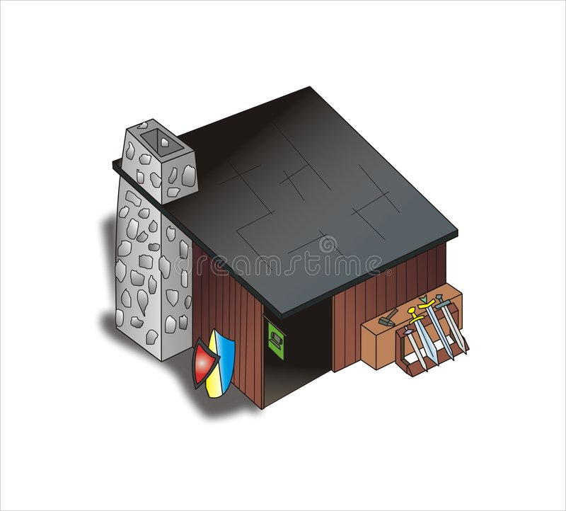 Download Ferrier with weapon stock vector. Image of roof, board - 7205201