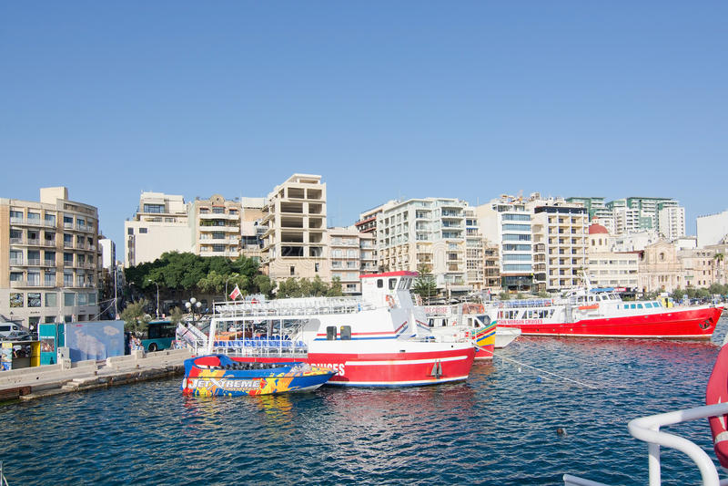Ferries de Sliema photo libre de droits