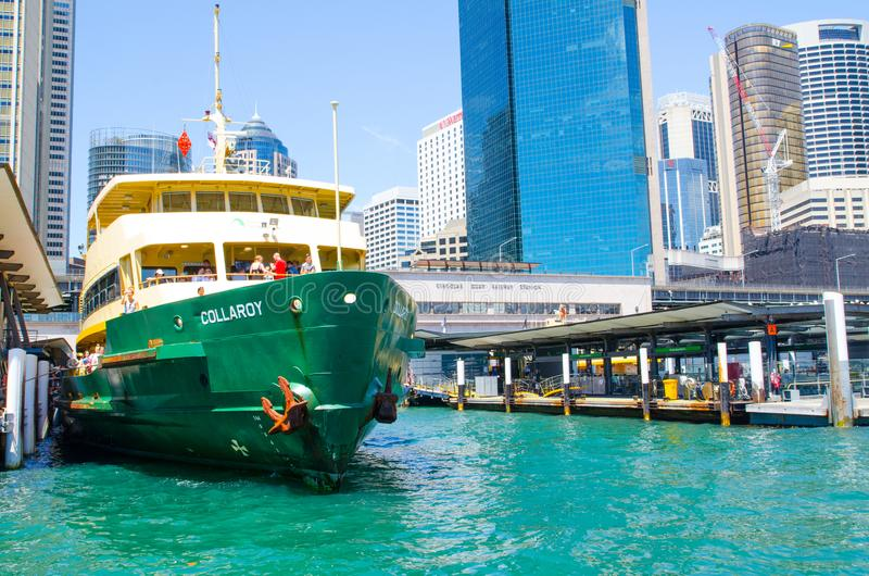 Ferries is the public transport ferry services operate on Sydney Harbour, The image at Circular quay wharf. SYDNEY, AUSTRALIA. – On November 26, 2017 royalty free stock photography