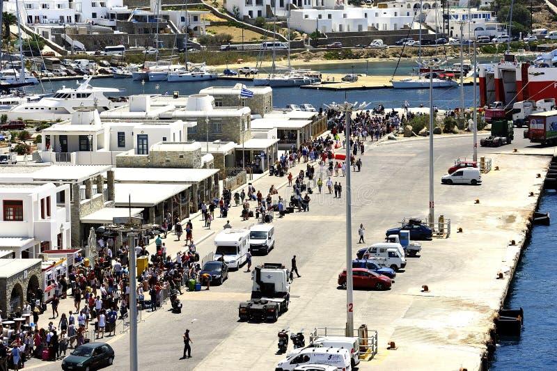 Ferries rapides Andros photo libre de droits