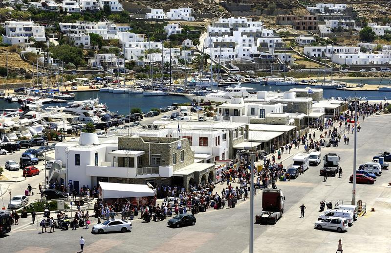 Ferries rapides Andros images stock