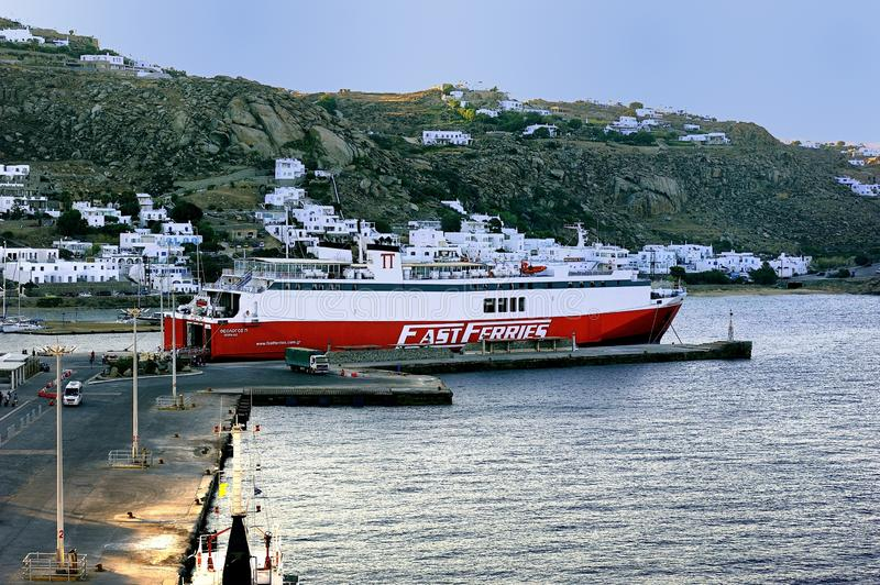 Ferries rapides Andros image stock