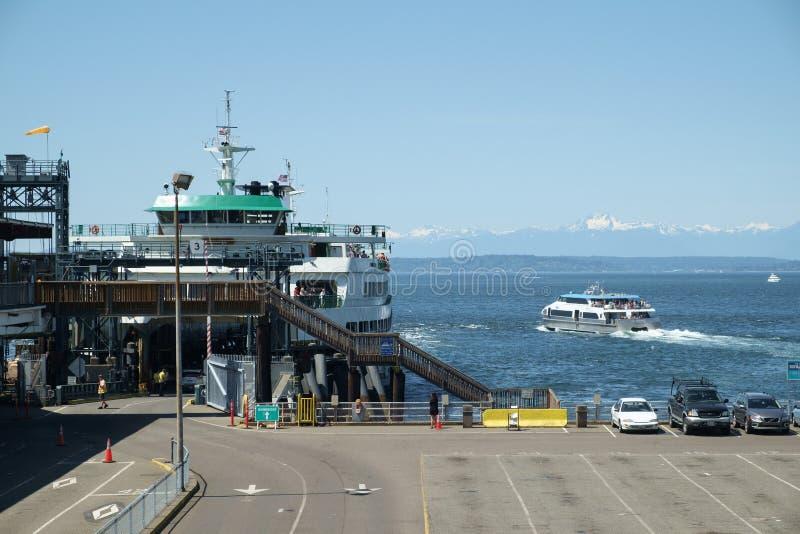 Ferries sur Puget Sound photos libres de droits