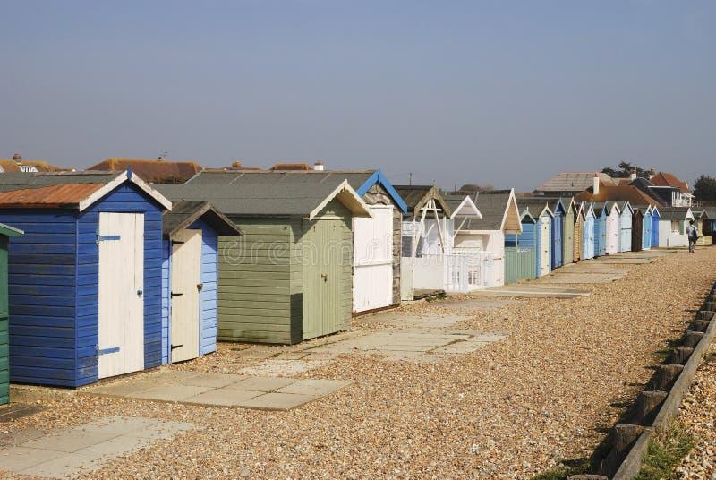 ferring καλύβες Σάσσεξ UK παραλιών στοκ εικόνες με δικαίωμα ελεύθερης χρήσης