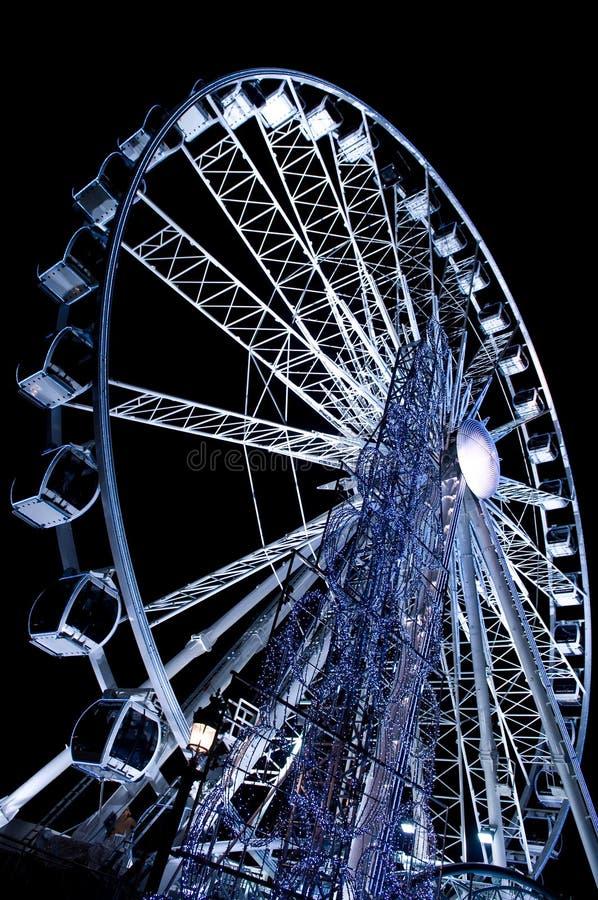 ferris巨型巴黎轮子 免版税库存图片