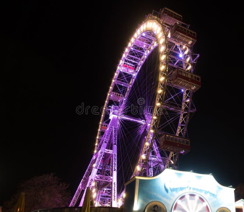ferris巨型prater维也纳轮子 奥地利 库存照片
